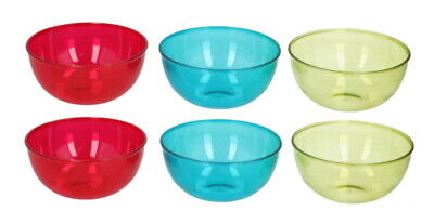 £10.99 • Buy Plastic Coloured Cereal Bowls 6 Piece Round Breakfast Dessert Oatmeal Bowls