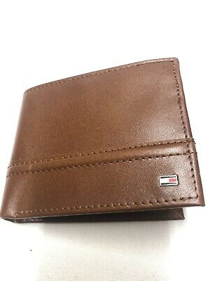 £14.99 • Buy Mens Brown Tommy Hilfiger Leather Wallet Nw