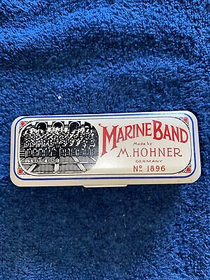 $15 • Buy Marine Band Harmonica Made By M. Hohner Germany No. 1896 W/Case
