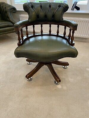 £107 • Buy Chesterfield Leather Captains Chair