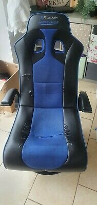 £0.99 • Buy X Rocker Adrenaline Gaming Chair For PS4 And Xbox One - Black/Blue
