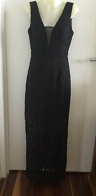 AU25 • Buy Forever New Stunning Black Evening Cocktail Party Formal Races Dress 8 Nwot