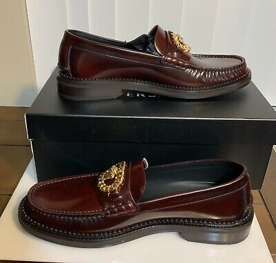 £502.73 • Buy NEW Versace Men's Brown Leather Medusa Chain Runway Loafers Size 43