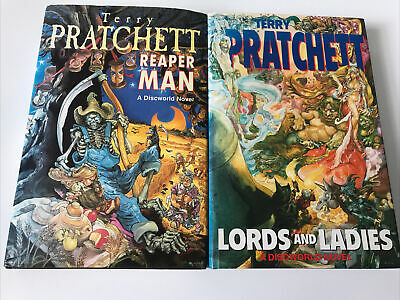 £15 • Buy Lords And Ladies  Reaper Man By Terry Pratchett Discworld 1st Editions