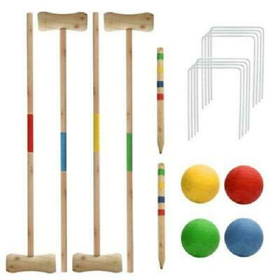 £17.95 • Buy 4 Person Wooden Croquet Set Game Outdoor Summer Fun Play Family New