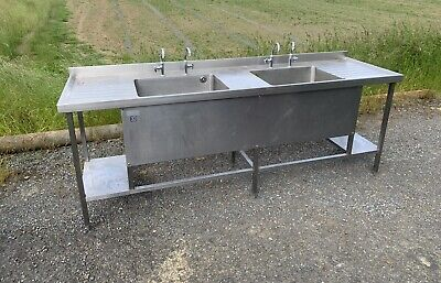 £450 • Buy Commercial Stainless Steel Double Sink