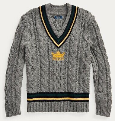 $329.50 • Buy Polo Ralph Lauren Men's Polo Iconic Embroidered Cricket Sweater - Size XL