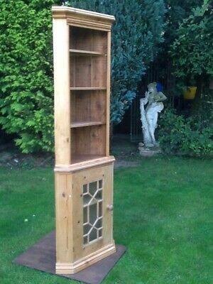 £65 • Buy Vintage Style Pine Corner Cupboard & Shelf Unit For Collection.