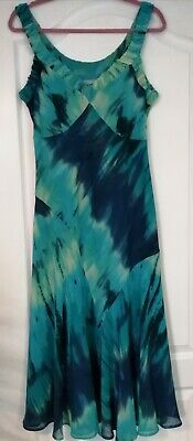 AU11.99 • Buy Per Una Size 14l Special Occasion Turquoise/navy Dress Worn Unmarked