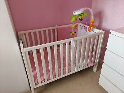 £50 • Buy Mothercare Cot With Drop Side