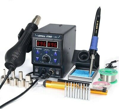 £36 • Buy YIHUA 8786D I 2 In 1 Hot Air Rework And Soldering Iron Station Digital New Boxed