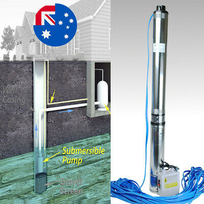 AU194.90 • Buy Submersible Bore 1.5Hp Water Pump Deep Well 240v Stainless Steel 2850rpm 83l/min