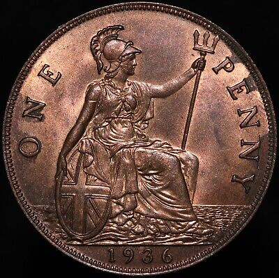 £12.75 • Buy 1936   George V One Penny   Bronze   Coins   KM Coins