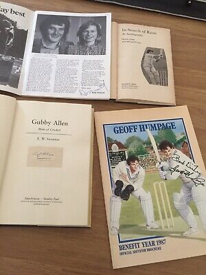 £9.99 • Buy 4 Signed Cricket Books , Warks CCC Interest