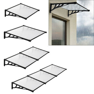 £72.95 • Buy Front/Back Door Canopy Porch Window Awning Rain Cover Roof Outdoor Patio Shelter
