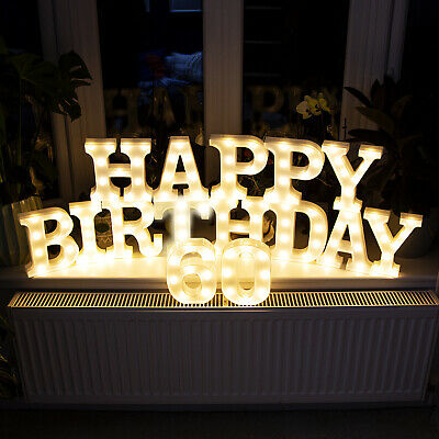 £5.99 • Buy LED Light Up Letters Numbers 22cm A-Z 0-9 Birthday Party Celebration Stand Hang