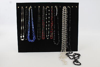 £0.99 • Buy 8 X Antique Glass NECKLACES Inc. Rolled Gold, Foiled, Graduated, Deco, Czech