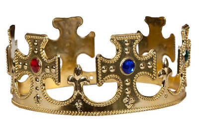 £6.95 • Buy Adults Gold King/Queen Crown (Royalty/Medieval) Fancy Dress Accessory