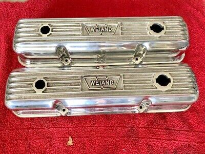 $500 • Buy Vintage Polished Weiand Ford Fe Aluminum Finned Valve Covers 352 390 427 428