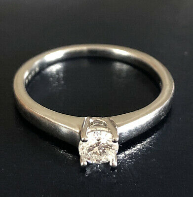 £380 • Buy Sparkl18ct White Gold Diamond Solitaire Ring 18ct Gold Hallmarked 750 Size L/M