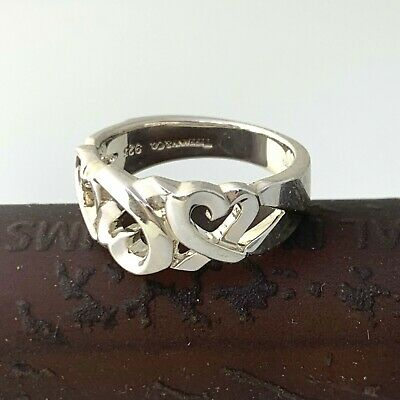 £107.92 • Buy Tiffany&Co Paloma Picasso Loving Heart Ring Sterling Silver / Sz 7