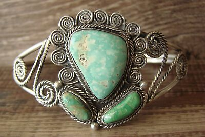 £214.85 • Buy Navajo Indian Jewelry Sterling Silver Turquoise Bracelet - Signed