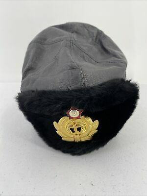 £13.06 • Buy Russian Military Navy USSR Hat Officer Black