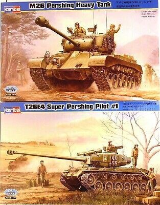 $23.50 • Buy Hobby Boss Lot Of 2, 1/35,  M26 Pershing Heavy Tank And T-26E4 Super Pershing