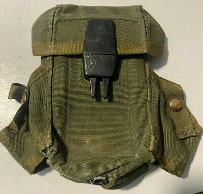 $11.99 • Buy U.S. SURPLUS O.D. GREEN ALICE SYSTEM M16  MAGAZINE POUCH Used