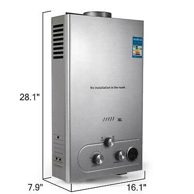 £91.25 • Buy Water Heater Propane Gas Lpg Tankless 6/8/10/12/16/18l 4.8gpm Stainless Steels