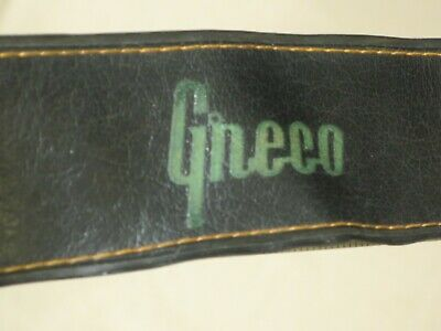 $ CDN85.91 • Buy Authentic Vintage Greco Guitar Strap, Japan C.1960s - Metal Buckle, Leather Ends