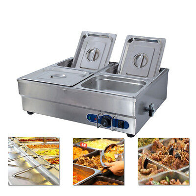 £135 • Buy Stainless Steel Food Warmer Commercial Electric Bain Marie With 4 Pan & Lids 1/2