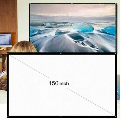 AU24.90 • Buy 150  Portable Projector Screen Home Outdoor Camping 3D HD 16:9 Movie Theater AU