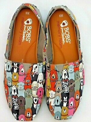 £14.38 • Buy New Bobs Skechers Dogs Puppy Wag Party Memory Foam Shoes Slip On Flats 6 W6