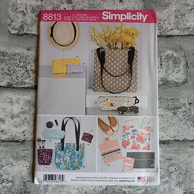 £10 • Buy Simplicity Sewing Pattern 8813 Bags & Small Accessories, Tote Bag, Clutch Bag