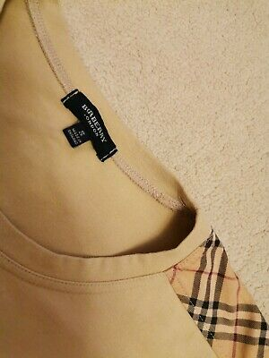 £44 • Buy BURBERRY Mens Vintage Long Sleeve Top With Nova Check Details, Beautiful!
