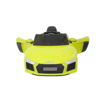 £89 • Buy Kids Yellow Ride On Car Licensed Audi Electric Led Mp3 Remote Control Toy 12v