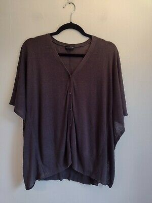 £14.99 • Buy The White Company Linen Mix Knitted Cardigan Size Medium M UK 10 12 Brown Poncho