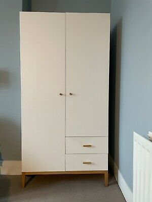£70 • Buy Ikea Tatsuma Wardrobe - Used But Excellent Condition. White With Wooden Handles