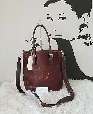 $128.51 • Buy NWT M0851 Leather Double Zip With Strap Bag, Cognac