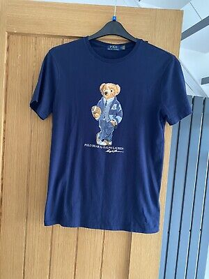 £10 • Buy Polo Bear By Ralph Lauren Mens Navy Tshirt Size Small/Petite