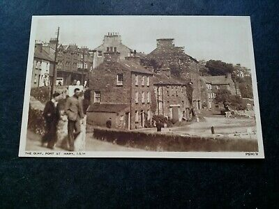 £1 • Buy Port St Mary, Isle Of Man, Vintage 1950s Postcard Of The Quay.