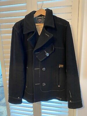 £5.60 • Buy G Star Raw Mens Pea Coat. Winter Jacket Xl Black. Used But In Good Condition.