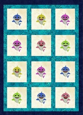 $10.99 • Buy Baby Shark Family Machine Embroidery Set 5 Designs 3 Sizes Download
