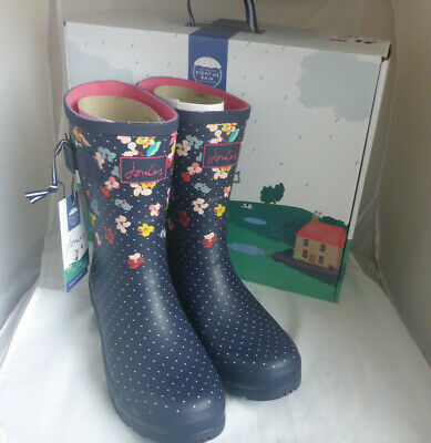 £41.99 • Buy Joules 209675 Molly Welly Navy Blossom Mid Height Wellingtons Wellies Box Size 9