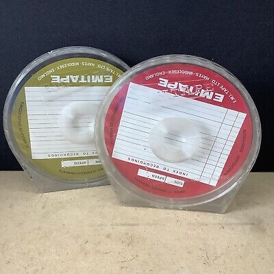 """£4.99 • Buy Set Of 2 Empty Emitape 7"""" Reel To Reel Cases Library Boxes"""