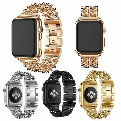 AU13.99 • Buy Stainless Steel Watch Band Strap For Apple IWatch Series 6/5/4/3/2/1 40mm 44mm