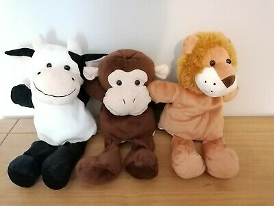 £14.99 • Buy BAMBIA GLOVE/HAND PUPPETS X 3, COW, MONKEY & LION.