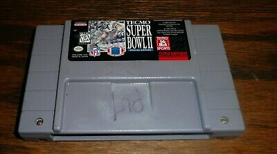 £36.22 • Buy Super Bowl II Special Edition Super Nintendo SNES Tecmo Game Only Tested Working