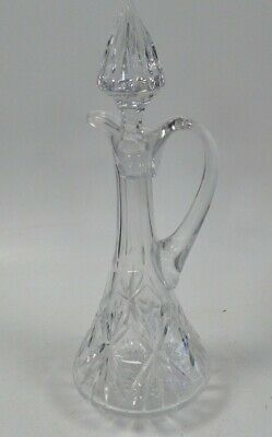 £9.99 • Buy Vintage Clear Cut Crystal Glass Decanter Jug With Stopper Tall Used Unboxed